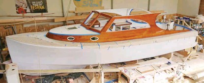 ??  ?? Stormy Weather, an East Coast 32 designed by Dovell Naval Architects and built by Denman Marine.
