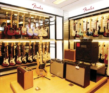??  ?? Fender electric guitars and amplifiers