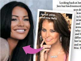 ??  ?? Jess in 2010 and now (left)