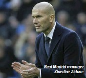 ??  ?? Real Madrid manager Zinedine Zidane