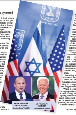 ?? (Peter Klaunzer/Reuters) (Yonatan Sindel/ Flash90) ?? PRIME MINISTER Naftali Bennett (Yonatan Sindel/Flash90) US PRESIDENT Joe Biden WILL THE warm feelings between the two leaders continue?