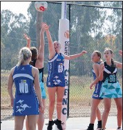 ??  ?? Taleaka Dickins played a beautiful game in defense and gave her team mates every opportunity to score.