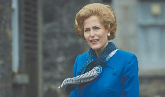 ?? PHOTOS: NETFLIX ?? Gillian Anderson delivers a star turn as Margaret Thatcher, Britain's former prime minister, in the fourth season of The Crown.