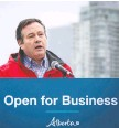 ?? AL CHAREST FILES ?? Premier Jason Kenney announces on May 22 that restaurants, bars and salons in Calgary and Brooks can reopen.