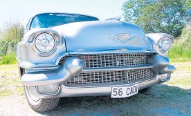 ??  ?? Stu Brickland's 1956 Cadillac Sedan de Ville is the same model that Elvis used to own.