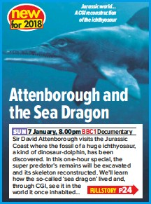 Pressreader What S On Tv 2018 01 06 Attenborough And The Sea Dragon