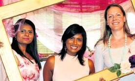 ??  ?? Dr N Naidoo, Dr J Moodley and Dr C Chivers pose for the cameras at the high tea in Birdswood