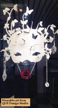 ??  ?? Wearable art from QUE Design Studio
