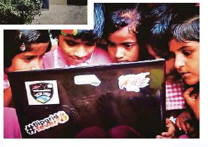 ??  ?? below: With the use of technology, the children of Paritewadi village had access to quality education.