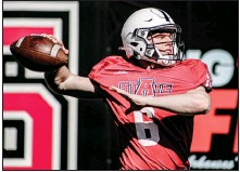 ?? (Photo courtesy Arkansas State Athletics) ?? Freshman quarterback Wyatt Begeal joined Arkansas State as an early enrollee after playing his 2020 senior season at Steele High School in Texas. Begeal was a three-star recruit by 247Sports.com.
