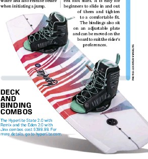 ??  ?? DECK AND BINDING COMBOS The Hyperlite State 2.0 with Remix and the Eden 2.0 with Jinx combos cost $399.99. For more details, go to hyperlite.com.