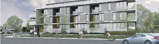 ?? ARTIST'S RENDERINGS COURTESY OF ROCIO ARCHITECTURE ?? The Boro Condos project in Pierrefonds-Roxboro, scheduled for completion in 2017, features 26 units, 22 of which are stacked townhouses — i.e. two-floor residences with access through an internal corridor.