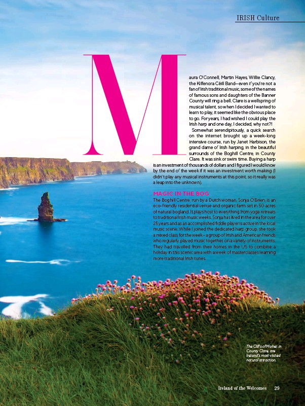 ??  ?? The Cliffs of Moher, in County Clare, are Ireland's most visited natural attraction.