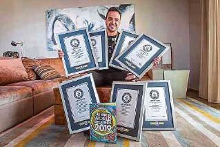 ?? EFE. ?? La canción 'Despacito' le ha dado al cantante puertorriqueño Luis Fonsi siete récords Guinness.