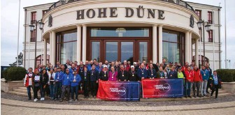 ??  ?? Participants of the Hanse-Aerospace Sailing Cup – The ultimate networking event for the last ten years. Photo: © Hanse-Aerospace