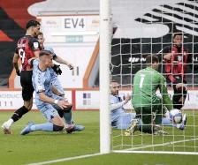 ??  ?? CHERRIES ON TOP Arnaut Danjuma makes it 2-0 to Bournemouth