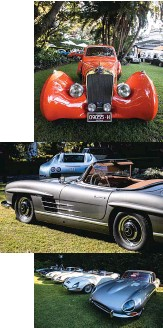 ??  ?? From top: Best in Show was landed by elegant Figoni et Falaschi Delage; 'Poster Children' class was won by '57 300SL; display marked the E-type's 60th