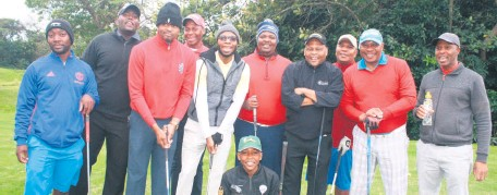 ?? Connie Harry ?? The rain and cold weather in Richards Bay on Saturday failed to put a damper on the spirits of the Darkies Golf Club members