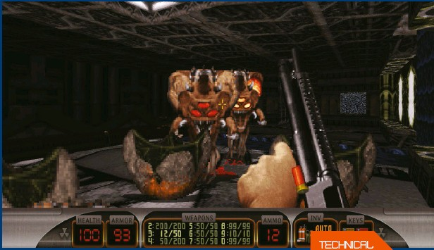 ??  ?? » [PC] (Top) Duke Nukem 3D be­come such an im­por­tant Buildgame, many later games used a mod­i­fied ver­sion of it.