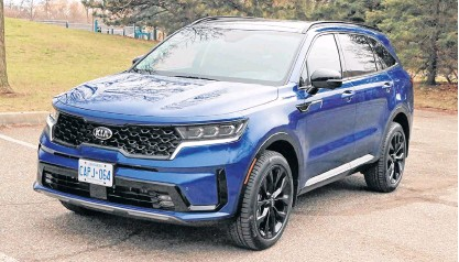 ??  ?? The 2021 Kia Sorento ticks all the important boxes for a wide range of customers.