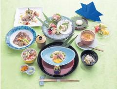 ??  ?? Keiseki dinner menu to celebrate Japan's Boy's Festival at Yamazato restaurant, Okura Prestige hotel.