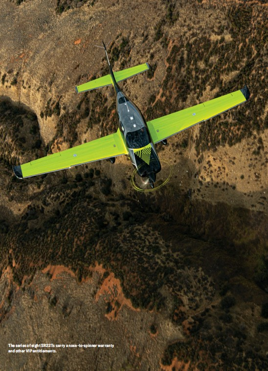 ??  ?? The series of eight SR22Ts carry a nose-to-spinner warranty and other VIP entitlements.