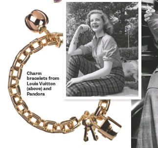??  ?? Charm bracelets from Louis Vuitton (above) and Pandora