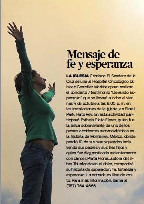 Pressreader El Nuevo Día 2013 09 23 Mensaje De Fe Y Esperanza