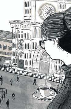 ??  ?? Spy in Paris - fine art print.