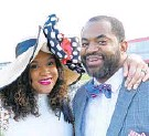 ?? KEVIN RICHARD­SON / BAL­TI­MORE SUN ?? State's at­tor­ney Marilyn Mosby and Del. Nick Mosby at the 2019 Preak­ness on Satur­day, May 18.