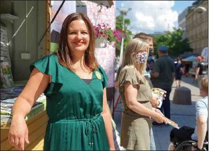 ?? ANJA KUUSISTO ?? ELINA RANTANEN. Hon blev personligen fjärde i topp bland Åbos invalda, men De Gröna gick bakåt.