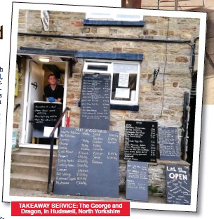 ??  ?? TAKEAWAY SERVICE: The George and Dragon, in Hudswell, North Yorkshire