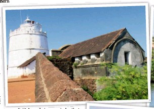 ?? — Photos: BERND KUBISCH/DPA ?? Fort Aguada is a reminder that Goa was a Portuguese colony for a long time.