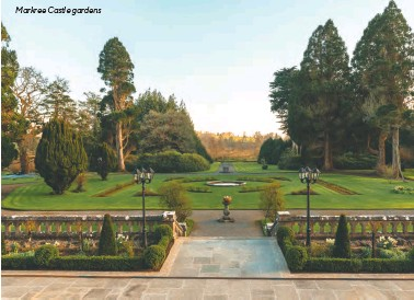 ??  ?? Markree Castle gardens
