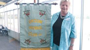 ??  ?? President Fay Halligan represents Drouin Probus Club