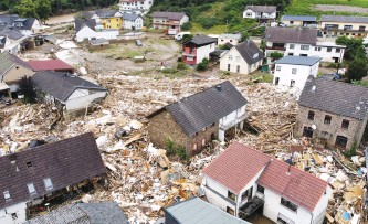 ?? (Reuters) ?? A GENERAL VIEW of a flood-affected area following heavy rainfalls in Schuld, Germany yesterday.