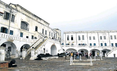 ??  ?? BEATING HEARTS Cape Coast Castle is where captives were loaded on ships and sent to the Americas as slaves.