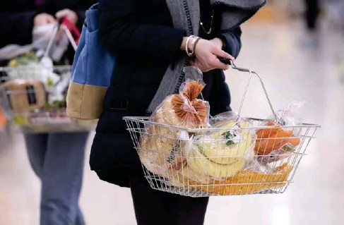 ?? (PA) ?? Food for thought: shoppers are returning to supermarkets in greater numbers