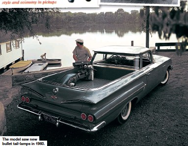 ??  ?? The model saw new bullet tail-lamps in 1960.