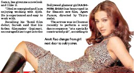 ??  ?? Amrit Rao changes from girl next door to sultry siren.