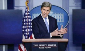 ?? Photograph: Evan Vucci/AP ?? The US climate envoy, John Kerry, has said America and Australia have 'differences' on climate policy and a senior Biden administration official says Joe Biden wants Australia to commit to stronger policies.