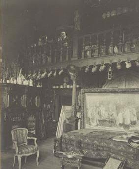 ?? FOTO COLLECTIE REGIONALE BEELDBANK MECHELEN ?? De Zalm diende vele jaren als het schildersatelier van Willem Geets (1839-1818).