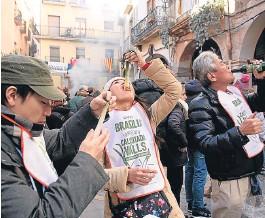 ?? VICENÇ LLURBA ?? La última fiesta de los calçots en Valls, el pasado 25 de enero