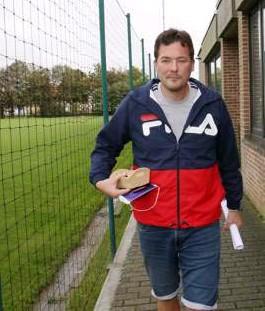 ?? FOTO VDB ?? Karel Fraeye in Roeselare.