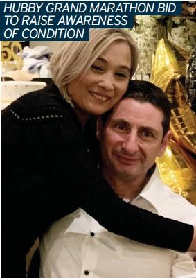??  ?? STAYING POSITIVE DESPITE CHALLENGE: Maria and her husband Robert