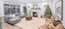 ??  ?? The Westhills Carriage Home Collection features traditional living spaces for the modern family. Snuggle up by the natural-gas powered fireplace.