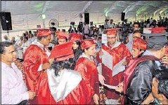 ??  ?? China is producing 22,000 PhD holders annually as against 8,000 by India. Public spending on higher education needs to be doubled from the existing 0.6% of GDP PRAVEEN BAJPAI/HT