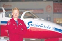 ?? CANADIAN FORCES • CONTRIBUTED ?? Capt. Steve MacDonald, who is from New Waterford, is living out his boyhood dream as a member of the snowbirds, Canada's elite Snowbirds aerobatics team.