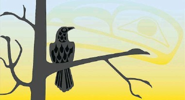 ??  ?? West Coast artist Roy Henry Vickers teamed up with Robert ( Lucky) Budd, historian and author of Voices of British Columbia, to create Raven Brings the Light, the first in a series of four children's books.