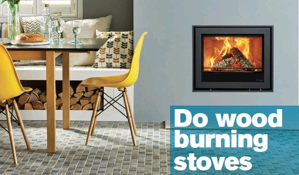 ??  ?? Above: The Elise Edge+ from Stovax (www.stovax.com) is available with a heat output of 7kw in the wood burning model and 8kw in the multi fuel option